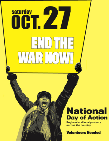ANSWER protest october 27 end the war