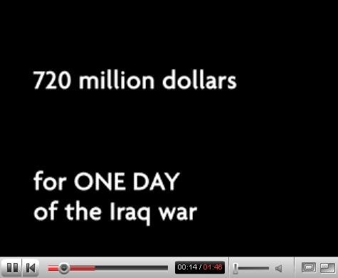 One Day Cost of Iraq War