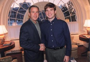 George Bush and Brian Smith at the White House
